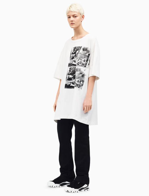 CALVIN KLEIN Burning Car シャツドレス