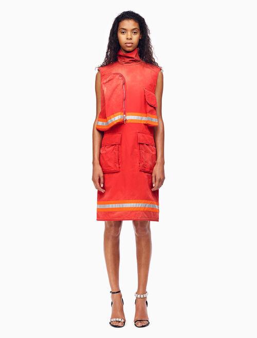 CALVIN KLEIN 디스트레스드 민소매 소방관 드레스