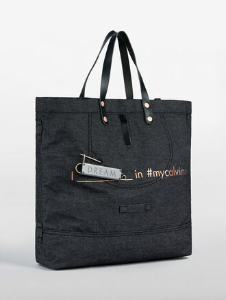 CALVIN KLEIN DENIM TOTE DREAM