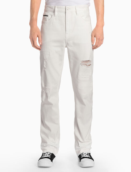 CALVIN KLEIN High Straight White Selvedge Jeans