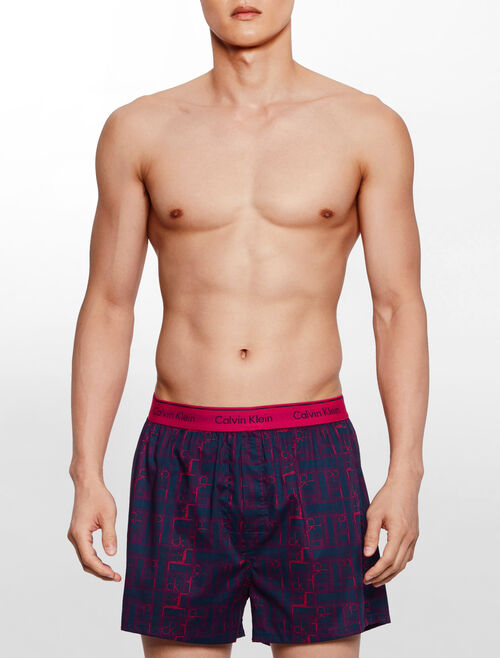 CALVIN KLEIN HOLIDAY WOVEN BOXER BOXER WVN SLIM FIT