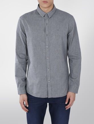 CALVIN KLEIN COTTON FLANNEL SHIRT