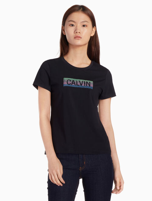 CALVIN KLEIN PRIMA COTTON 로고 그래픽 티셔츠