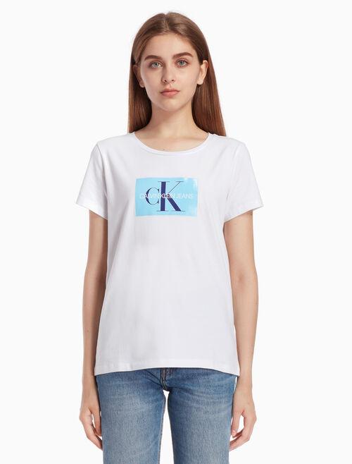 CALVIN KLEIN MONOGRAM ボックスロゴ T シャツ