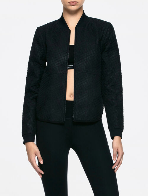 CALVIN KLEIN ZIP-OFF SLV CROP JACKET
