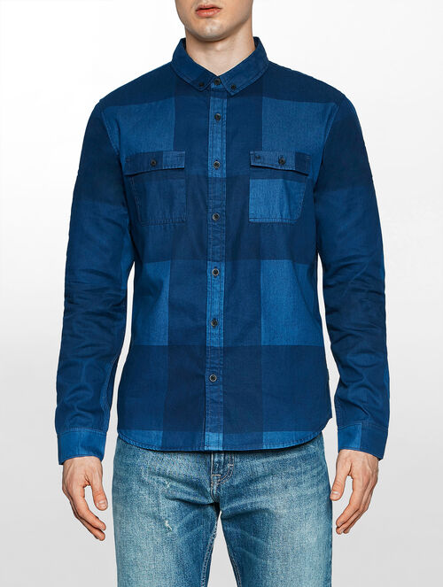CALVIN KLEIN WINDO BLUE DARK INDIGO LONG SLEEVES SHIRT