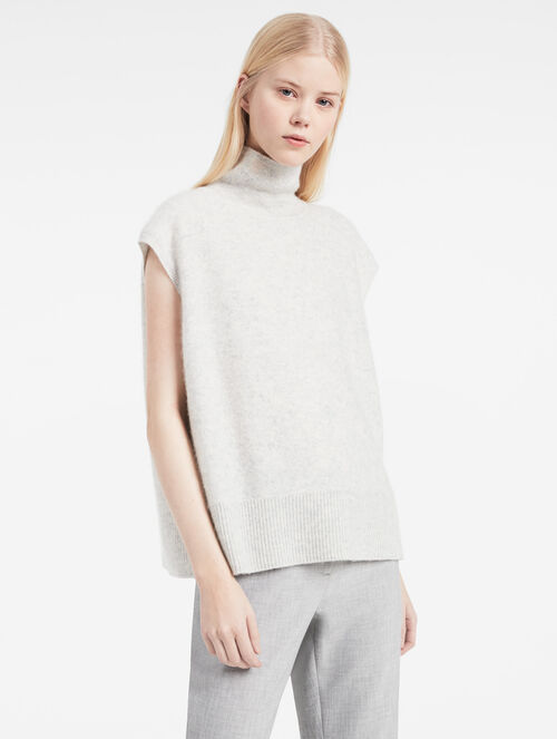 CALVIN KLEIN BOILED CASHMERE SLEEVELESS TOP