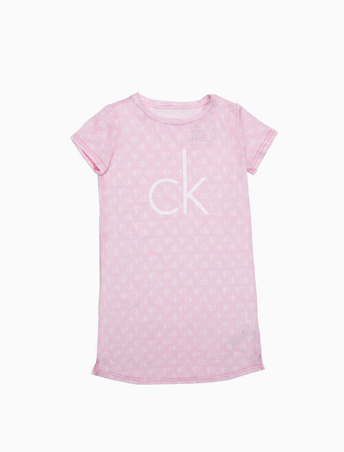 CALVIN KLEIN LOGO SHORT-SLEEVE NIGHT DRESS