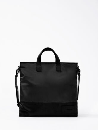 CALVIN KLEIN TECH NYLON FLAT CROSSOVER BAG