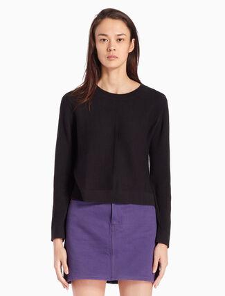CALVIN KLEIN CASHMERE BLEND 니트 풀오버 스웨터