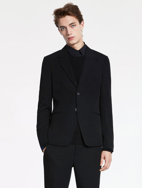 CALVIN KLEIN MODERN WOOL DRILL JACKET - FULLY LINED