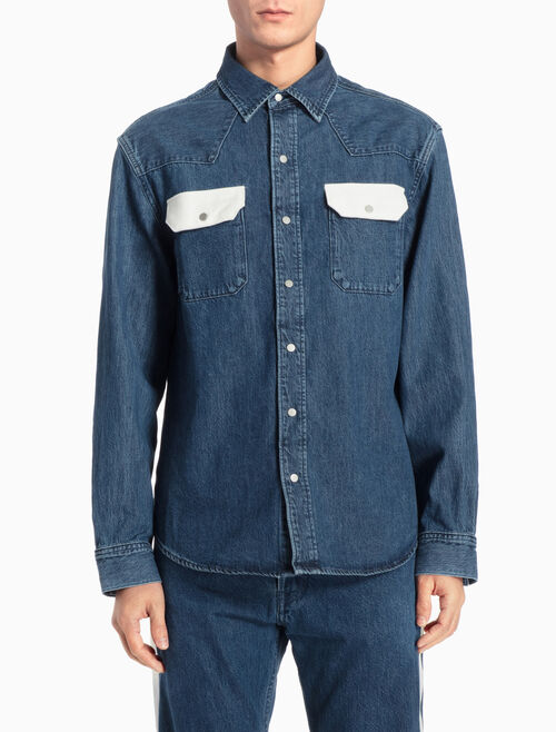 CALVIN KLEIN ARCHIVE WESTERN DENIM SHIRT