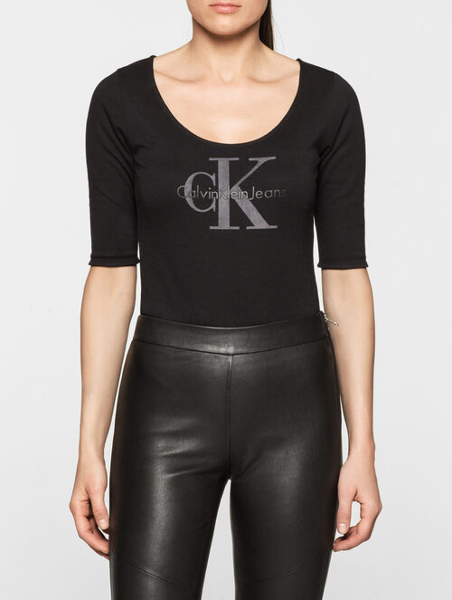CALVIN KLEIN REBEL EDGE LOGO BODY SUIT