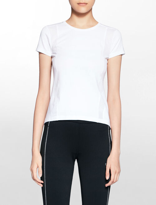 CALVIN KLEIN MIX FABRIC WORK OUT TEE
