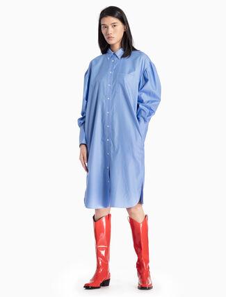 CALVIN KLEIN WOVEN SHIRT DRESS