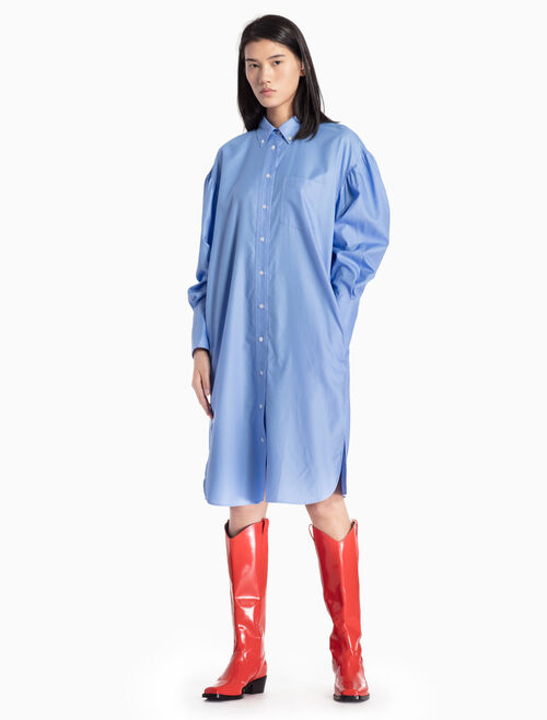 CALVIN KLEIN WOVEN SHIRT DRESS