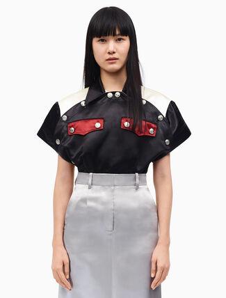 CALVIN KLEIN 다이너 유니폼 라운드 셔츠