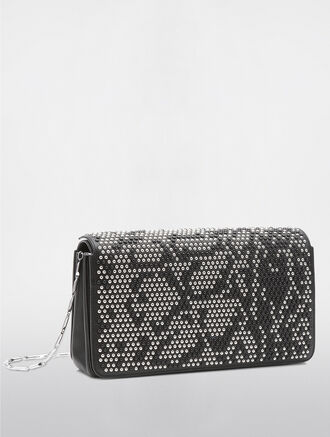 CALVIN KLEIN FLARED BOX CLUTCH LEOPARD S