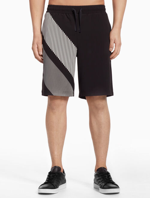 CALVIN KLEIN PLACEMENTR STRIPE WOVEN SHORTS