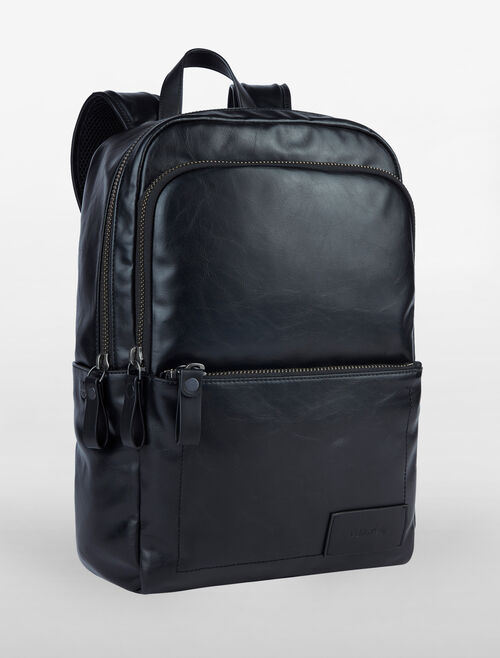 CALVIN KLEIN MINIMAL PU DOUBLE ZIP BACKPACK