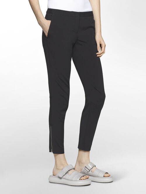 CALVIN KLEIN COTTON TRIACETATE EXTREME SKINNY CROPPED PANTS ( PIPER CROPPED FIT )