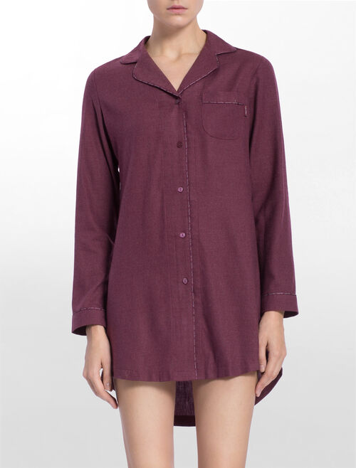 CALVIN KLEIN FLANNELS LONG SLEEVES NIGHTSHIRT