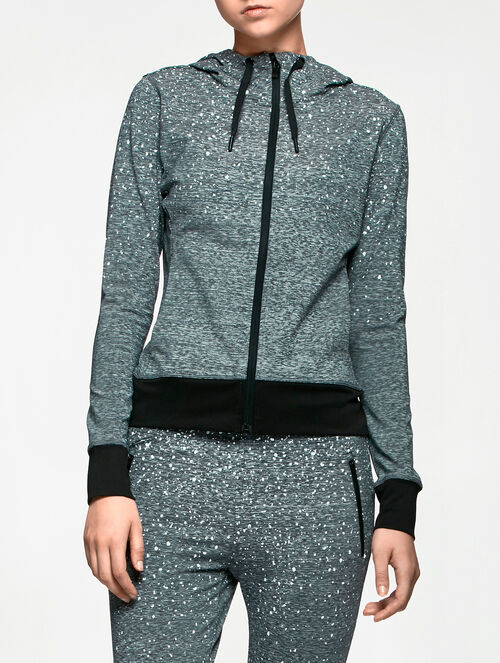 CALVIN KLEIN AOP HOODED SWEAT JACKET