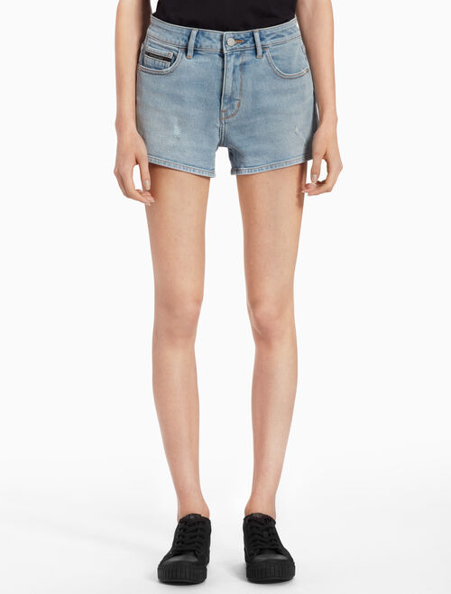 CALVIN KLEIN MEDIUM RISE DENIM SHORTS