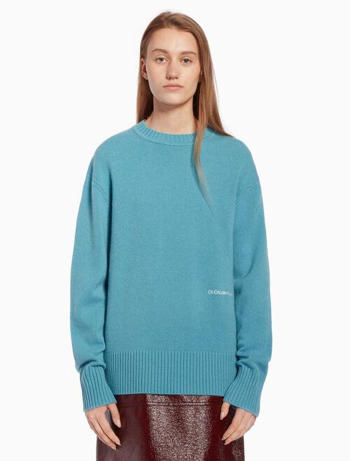CALVIN KLEIN Knit logo pullover sweater