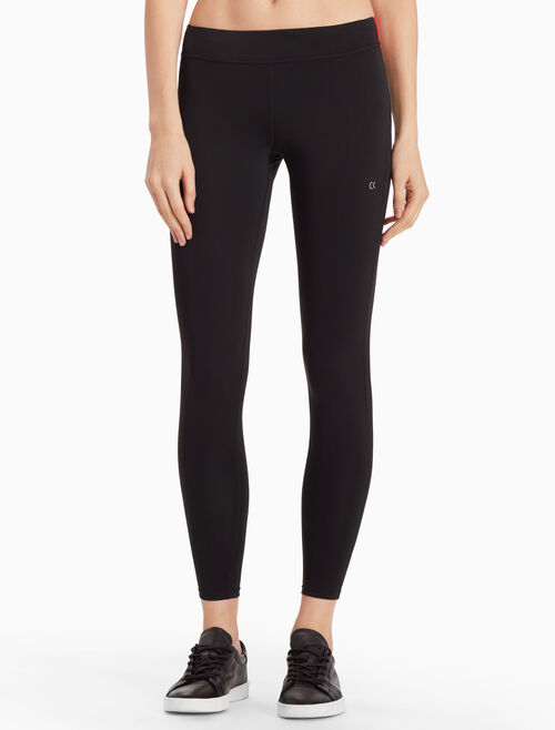CALVIN KLEIN LOGO CROPPED LEGGINGS