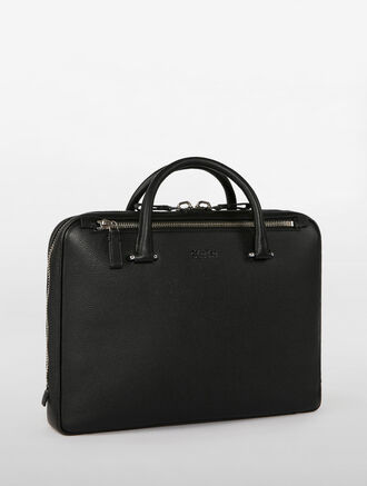 CALVIN KLEIN ENGINEERED BUSINESS ENGINEERED SLIM BRIEFCASE