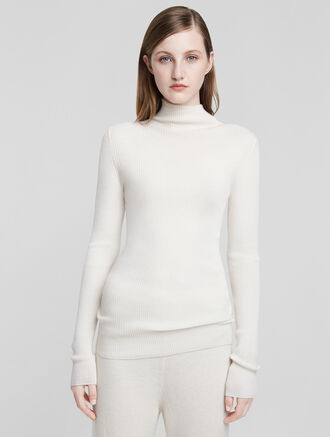 CALVIN KLEIN CASHMERE MOCK NECK LONG TEE