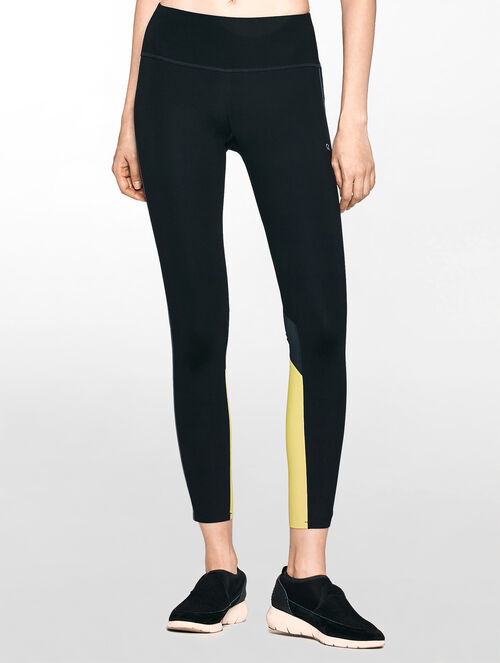 CALVIN KLEIN LAMINATED HIGH RISE LEGGING