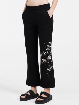 CALVIN KLEIN sculpted cherry blossom track pants
