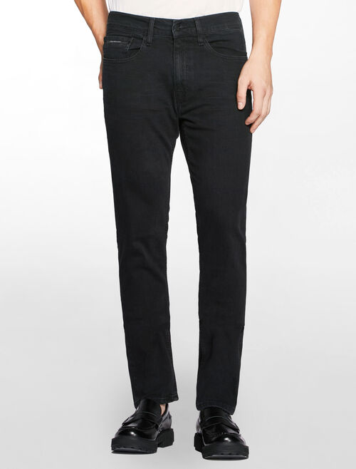 CALVIN KLEIN BLACK SPIDER STRAIGHT TAPER JEANS