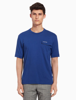 CALVIN KLEIN Logo ポケット T シャツ