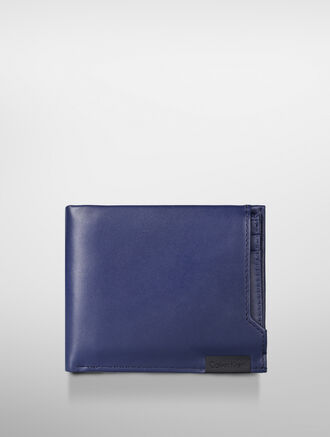 CALVIN KLEIN CLASSIC CALF BILLFOLD WITH PULLOUT CASE