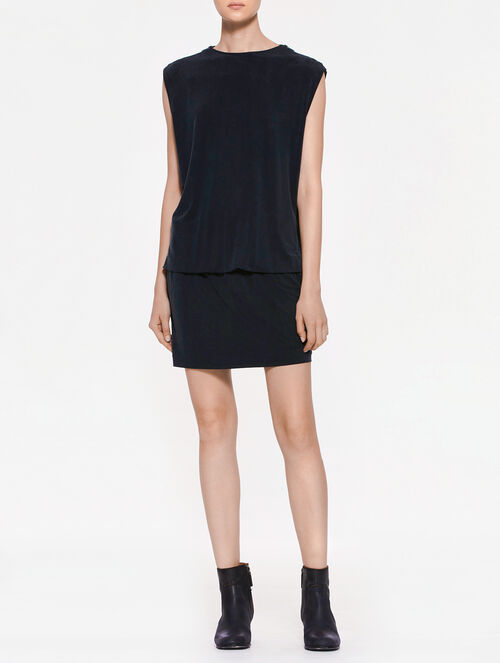 CALVIN KLEIN DENISE LIGHT WEIGHT KNIT SHORT SLEEVES DRESS