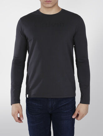 CALVIN KLEIN LOGO PRINTED LONG SLEEVES T-SHIRT