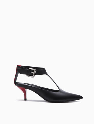 CALVIN KLEIN MAXIME POINTED T BAR PUMPS