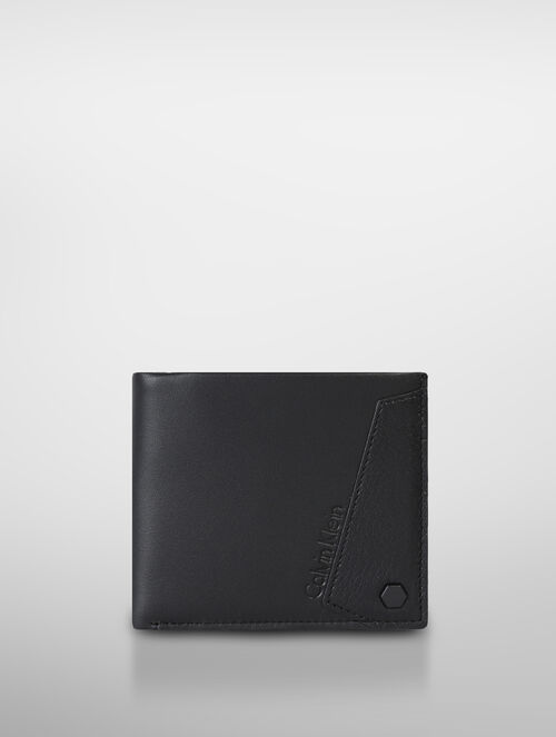 CALVIN KLEIN TWO TONED TEXTURE AVIATOR BILLFOLD