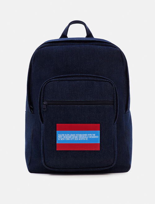 CALVIN KLEIN EST 1978 INDIGO DENIM BACKPACK