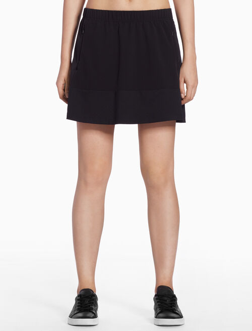 CALVIN KLEIN MINI SKIRT WITH LOGO BAND