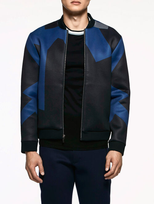 CALVIN KLEIN ASYMMETRICAL COLORBLOCK JACKET