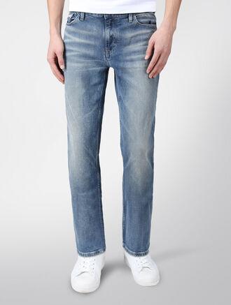 CALVIN KLEIN FOG BLUE STRAIGHT LEG JEANS