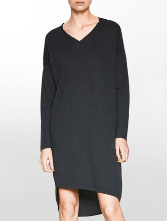 CALVIN KLEIN DIXIE V-NECK LONG SLEEVES DRESS