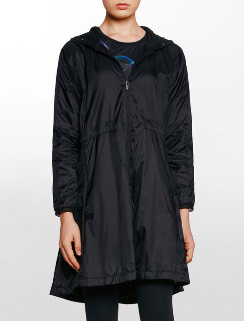 CALVIN KLEIN HOODED LONG WIND JACKET