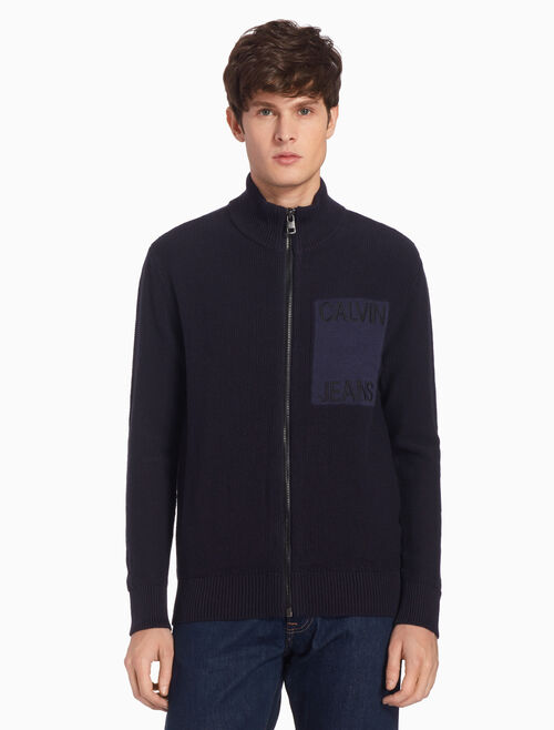 CALVIN KLEIN KNIT ZIP UP JACKET