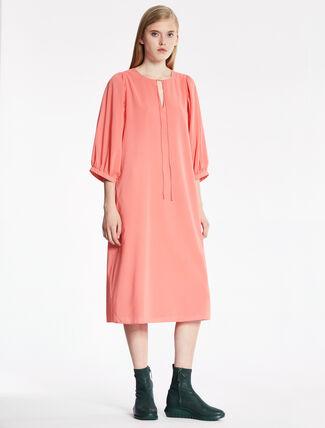 CALVIN KLEIN STRETCH SILK DOUBLE LAYER DRESS