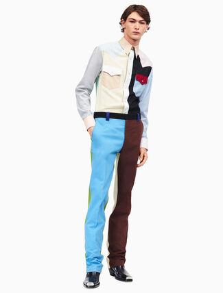 CALVIN KLEIN patchwork denim pants